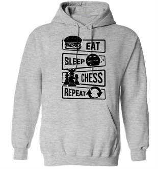 Eat-Sleep-Chess-Repeat Hoodie